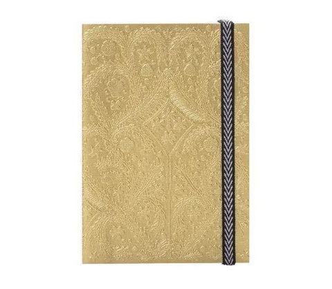 Gold Paseo A6 Notebook