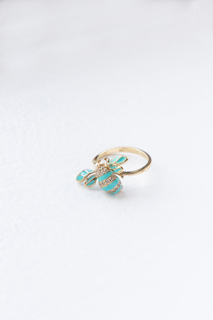 Blue Bee Ring
