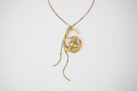 Infinity Bee Necklace