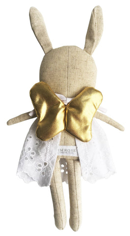 Image of Linen Baby Angel Bunny - Gold