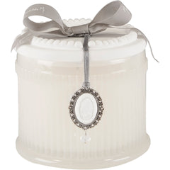 Elegant Candle in Rice Powder by Mathilde M