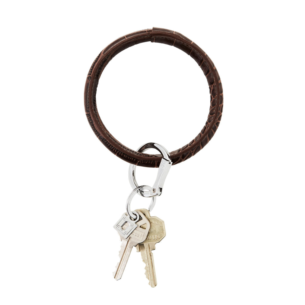 Chocolate Diamond Croc Big O Key Ring