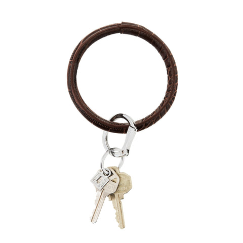 Image of Chocolate Diamond Croc Big O Key Ring