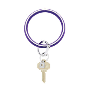 Deep Purple and White Big O Key Ring