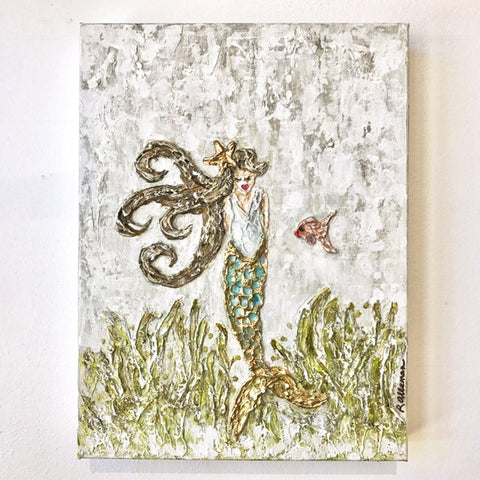Mermaid  9x12 Hand Painted Artwork