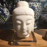 Hand Carved Marble Buddha Statue on Acrylic Base - Relish New Orleans