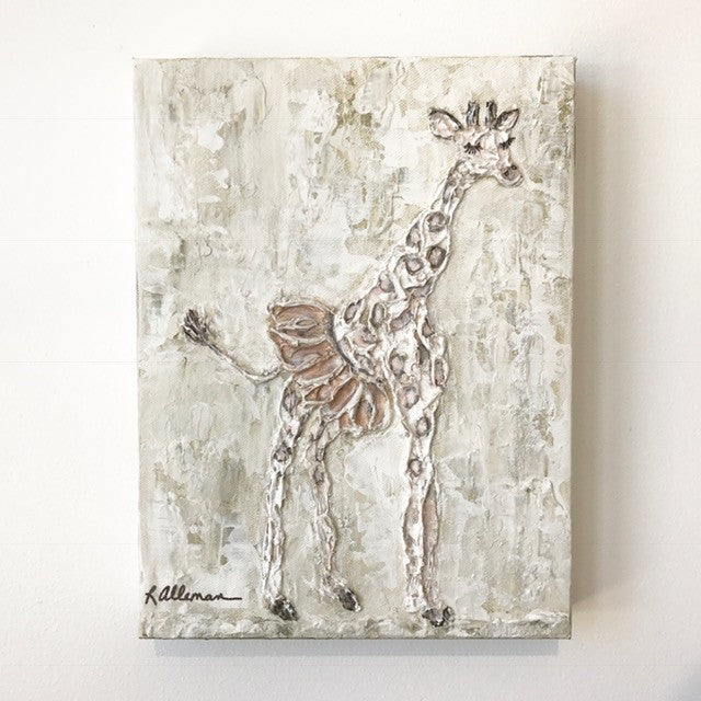 Giraffe  9x12 Hand Painted Artwork