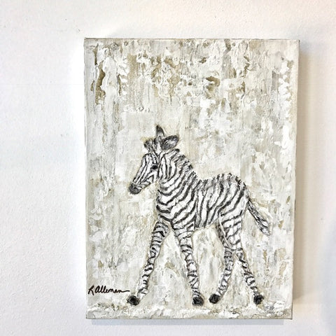 Zebra 9x12 Hand Painted Artwork