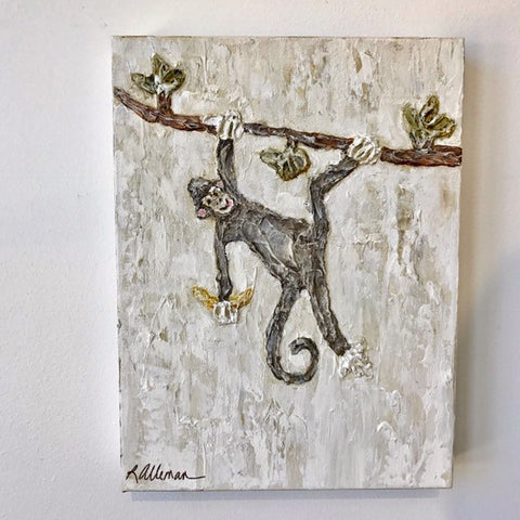 Monkey 9x12 Hand Painted Artwork