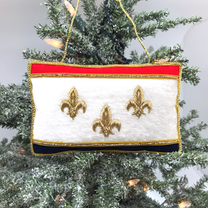 New Orleans Flag Ornament- Limited Edition
