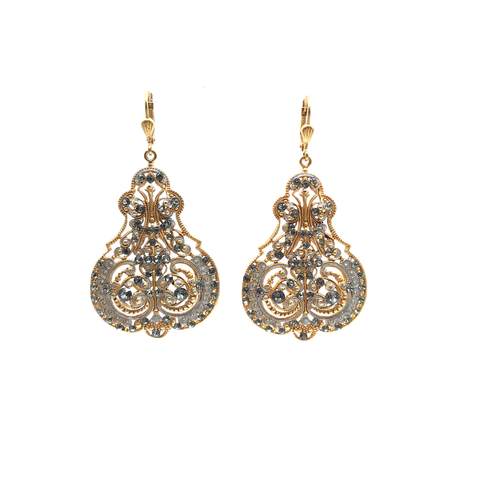 Image of Marie Petite Enamel Contessa Earrings