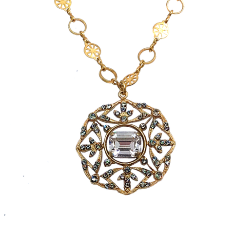 Crystal Medallion Necklace