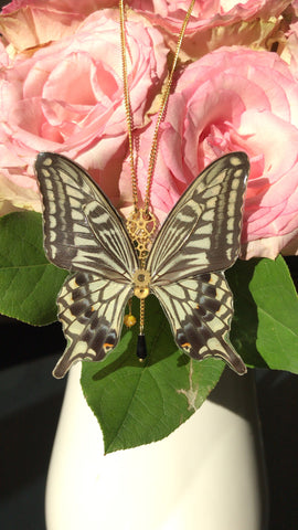 Large Victorian Butterfly Necklace