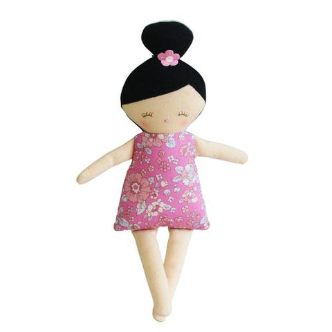 Alimrose Maggie Squeaker Doll - Pink Floral