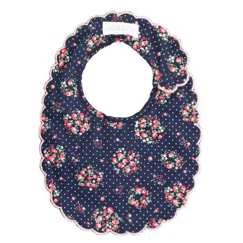 Image of Scallop Bib - Midnight Floral