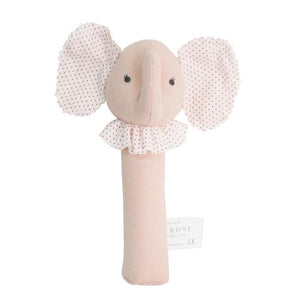 Baby Elephant Squeaker - Pink