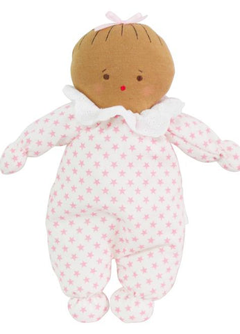 Image of Asleep/Awake Baby Doll - Pink Stars