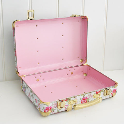 Mini Vintage Suitcase - Cottage Rose