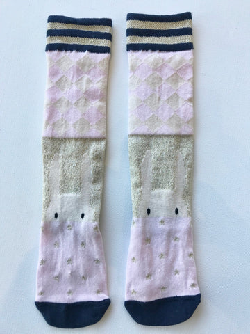 Pink Bunny Knee High Socks by Lily & George