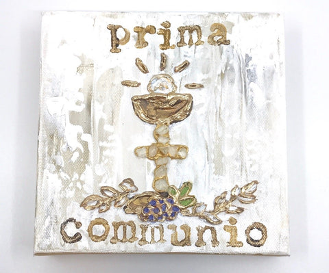 Prima Communio Hand Painted Artwork
