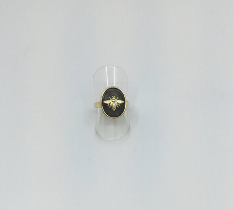 Gold Stone Icon Ring