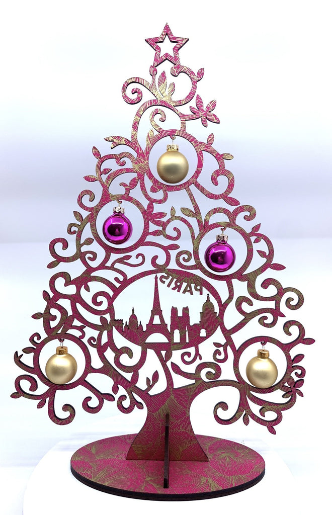 Christmas Tree Curl Paris Pink-Gold