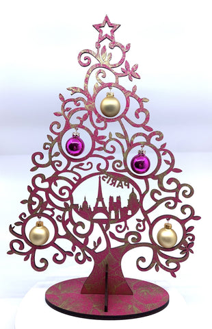 Image of Christmas Tree Curl Paris Pink-Gold