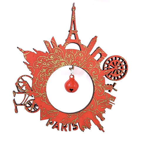 Paris Ornaments With Bells