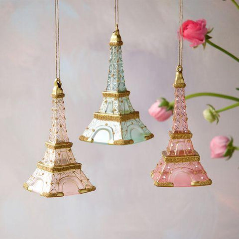 Crusted Eiffel Tower Ornament