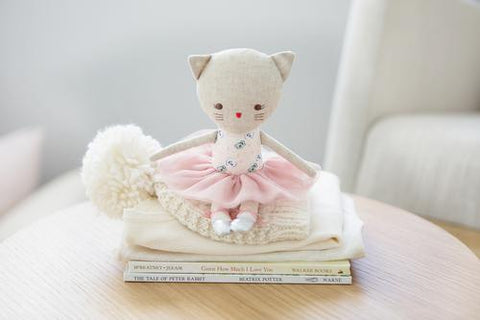 Alimrose Odette Kitty Ballerina - Blush