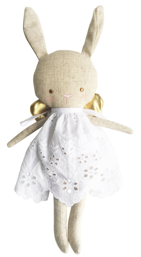 Linen Baby Angel Bunny - Gold