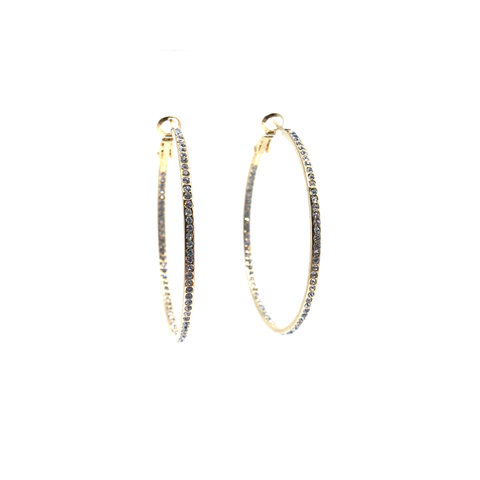 Image of Large Pave Hoop Earring