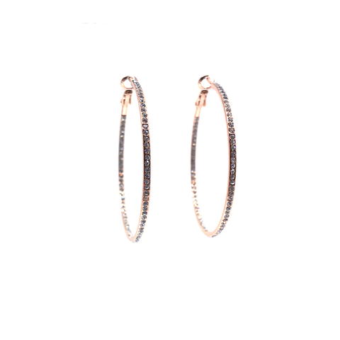 Large Pave Hoop Earring