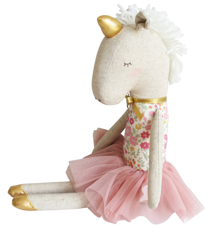 Yvette Unicorn Doll - Rose Garden