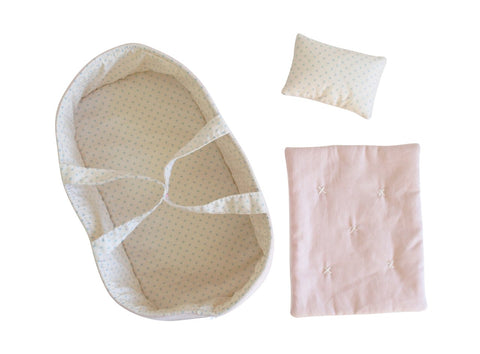 Baby Doll Carrier Set - Pale Pink and Spot