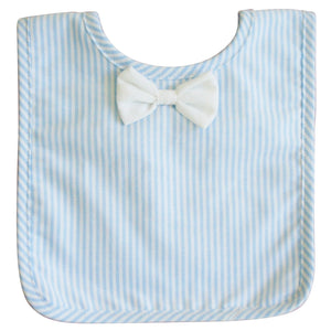 Bow Tie Bib - Blue Stripe