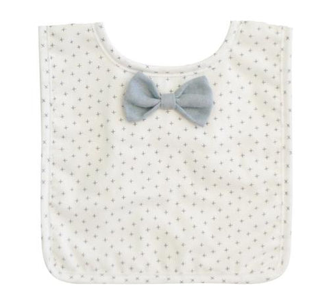 Bow Tie Bib - Grey Cross