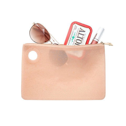 Image of Rose Gold Rush Confetti - Silicone Pouch