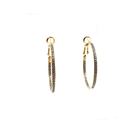 Small Pave Hoop Earring