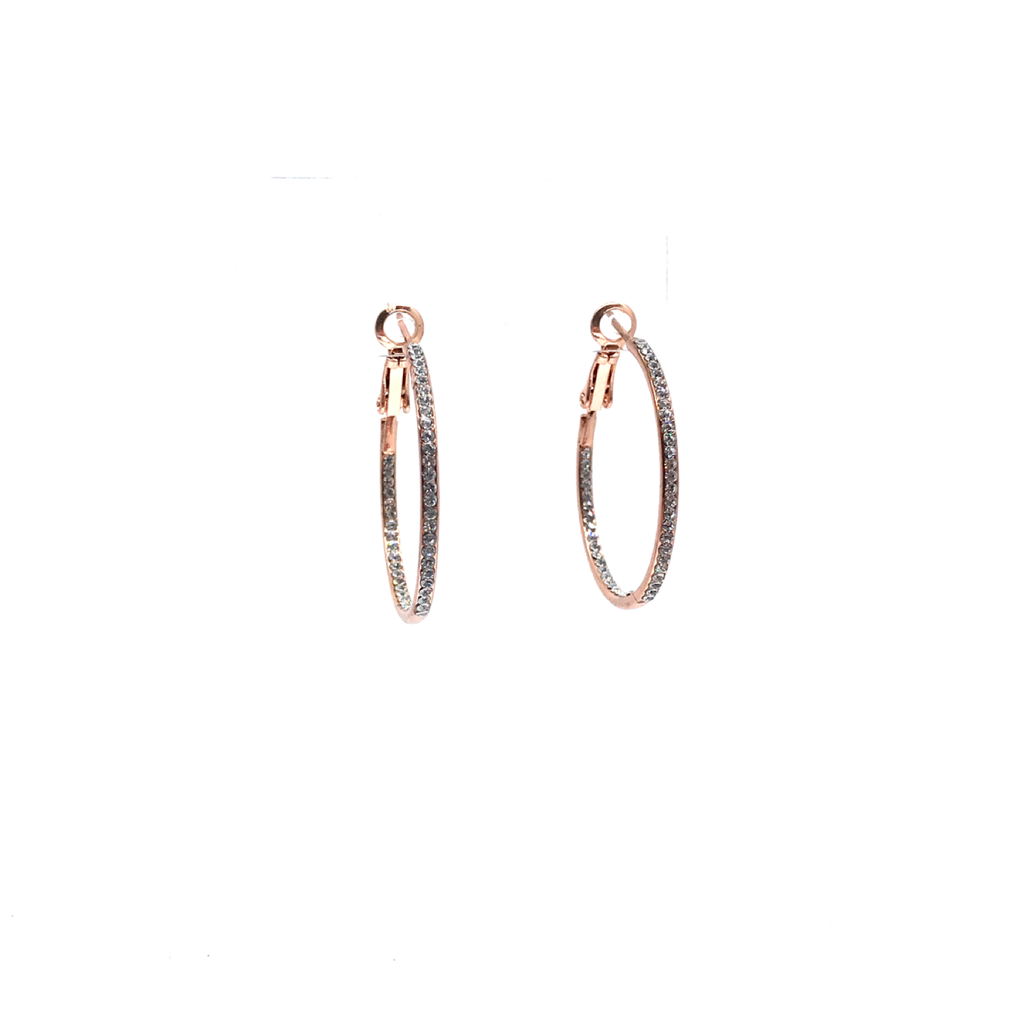 a0ee8dc7ec7191 Small Pave Hoop Earring – Relish New Orleans
