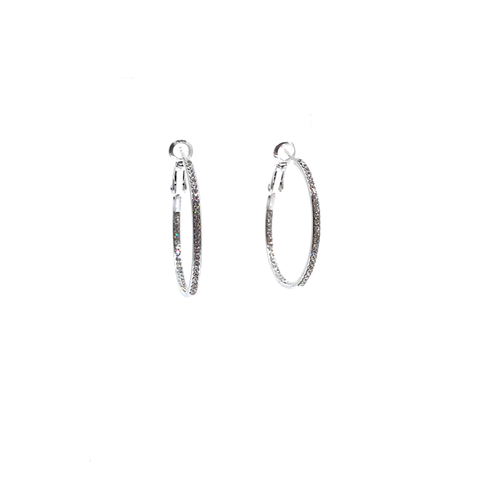 Image of Small Pave Hoop Earring