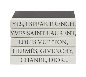 Quote French Set of 5 Decorative Books