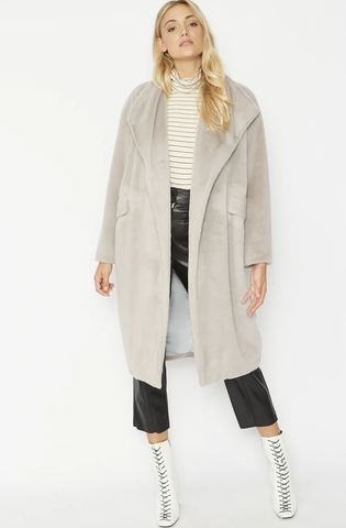 Image of Faux Fur Oversized Coat