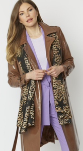 Leopard with Stars Silk Cashmere Blend Wrap