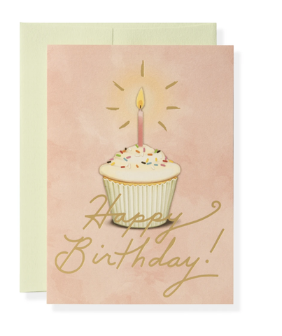 Image of Golden Birthday Greeting Card