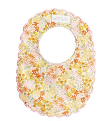 Scallop Edge Bib Sweet Marigold