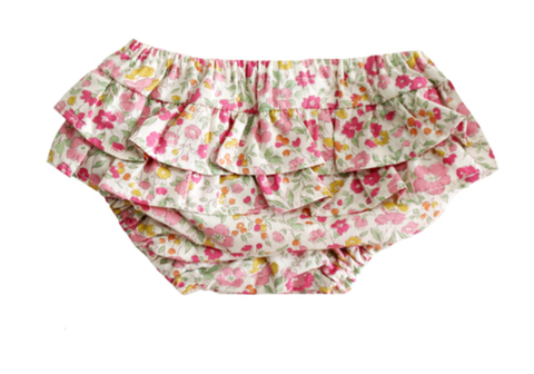 Ruffle Nappy Cover Rose Garden