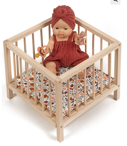 Wooden Playpen for Dolls - Zelda Pattern