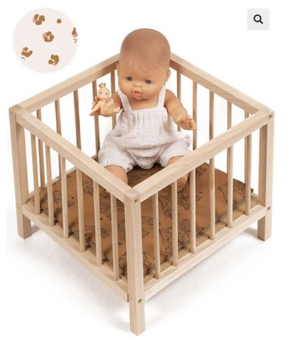 Wooden Playpen for Dolls - Holly Pattern