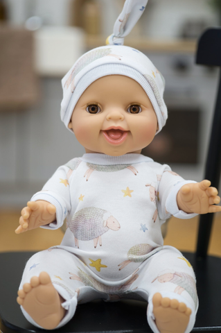 Doll Pajama Romper and Hat